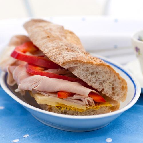 Fransk baguette med skinka & appenzeller