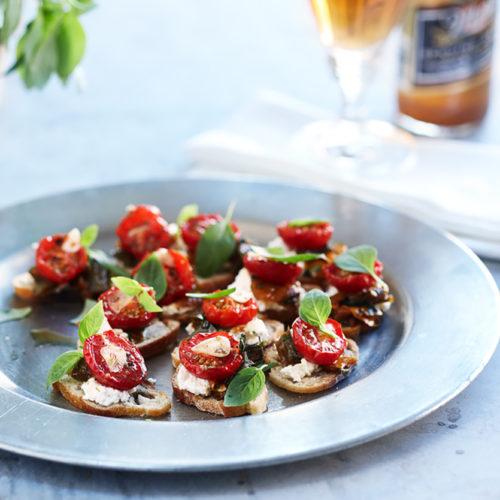 Pintxos med paprika, tomat & ricotta