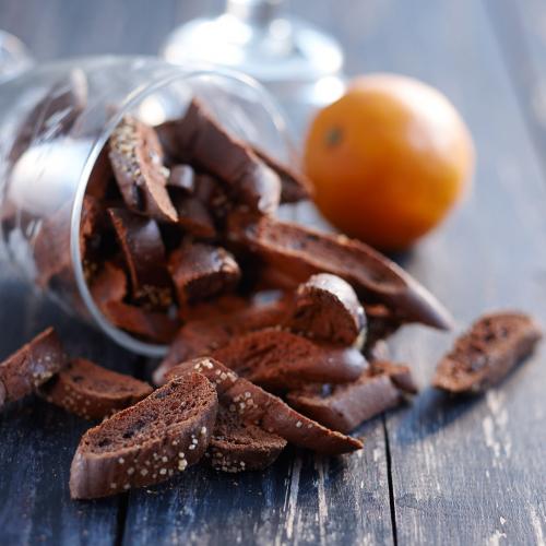 Chokladskorpor med apelsin