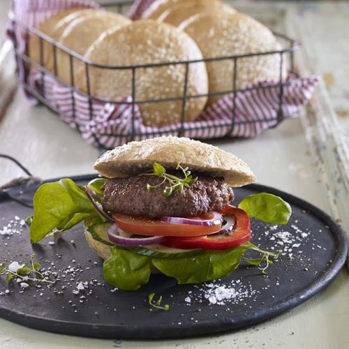 Hamburgerbröd med råg