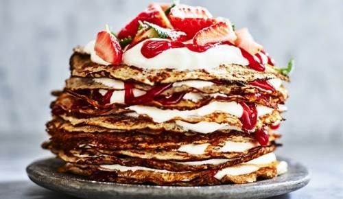 Fira med en klassisk pannkakstårta!